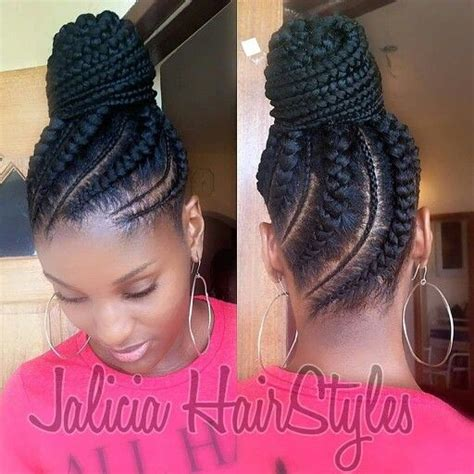 natural hair big braids cornrow updo pinteres