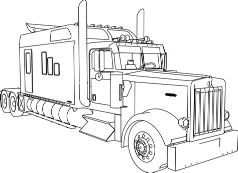 custom peterbilt semi coloring pages coloring pages