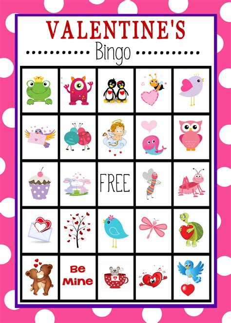free printable s day bingo