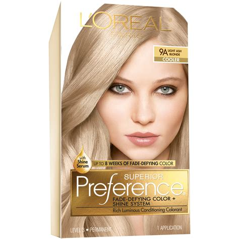 bet box blond hair color l oreal 9a cooler light ash blonde hair color 1 kt box