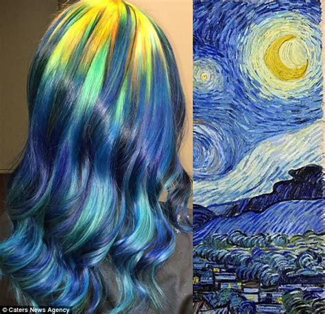 ursula goff dyes her hair to look like famous paintings