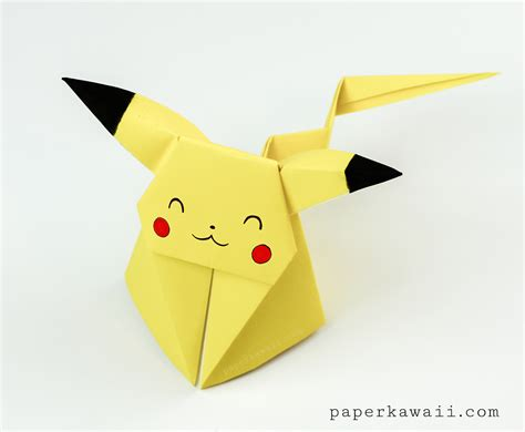 How To Make A Pikachu Origami - origami pikachu tutorial origami paper