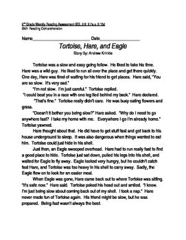 Reading Comprehension Passage and Questions: Tortoise