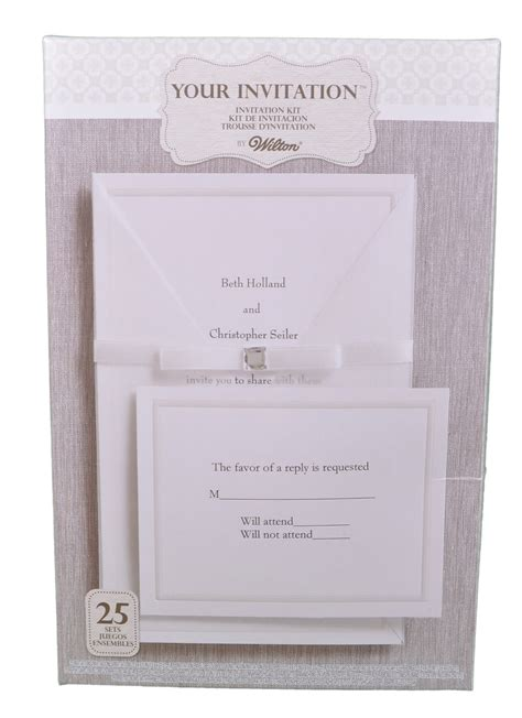 printable wedding invitations wilton set of 25 wilton wedding princess invitation kit 1010 107