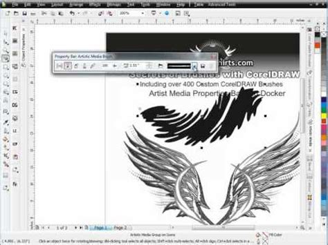 The Secret Of Coreldraw Madcoms secrets of brushes corel draw tutoriald session 4