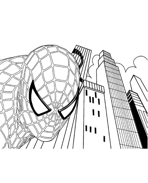spiderman face coloring page spiderman s face coloring page to print or download for free