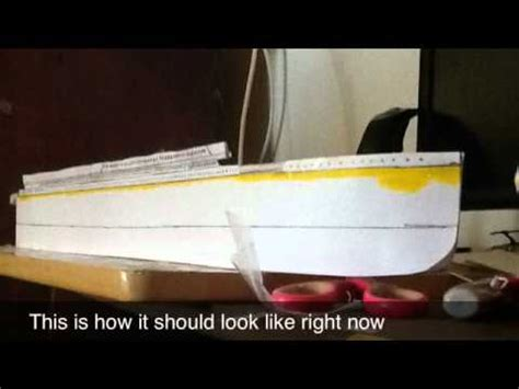 How To Make The Titanic Out Of Paper - paper model titanic tutorial pre release