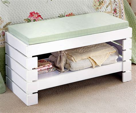 white cube style bathroom bedroom bench seat shelf
