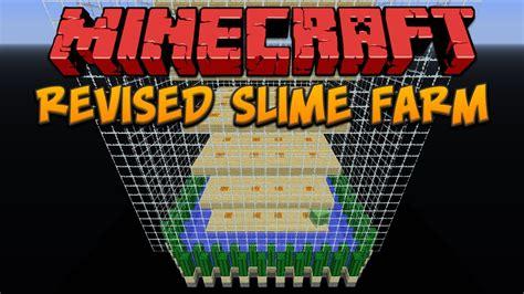 slime chunk tutorial minecraft revised chunk based slime farm youtube