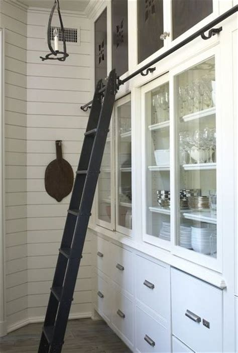 Pantry Ladder by Rolling Ladder In Butler S Pantry Via Tracery Interiors