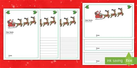 letter to santa template eyfs letter to santa writing template english portuguese
