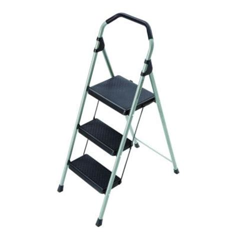 3 step steel step stool gorilla ladders 3 step lightweight steel step stool ladder
