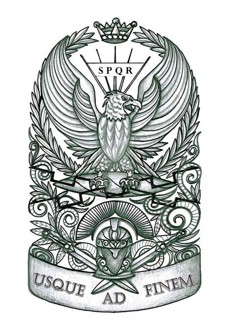 rome tattoo eagle design idea by thehoundofulster