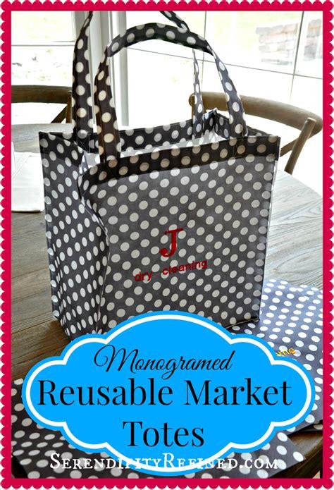 serendipity refined blog monogrammed reusable market tote