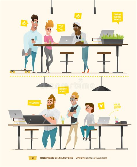 Working Set B business characters in some situations stock vector illustration of notebook abstract 94822130