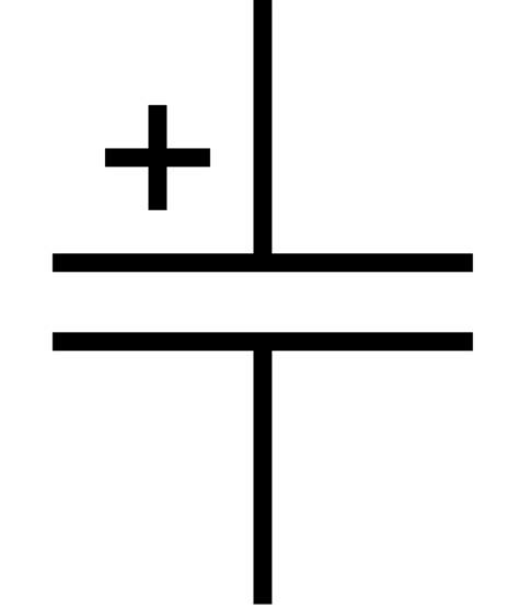 capacitor symbol and function file polarized capacitor symbol gost svg wikimedia commons