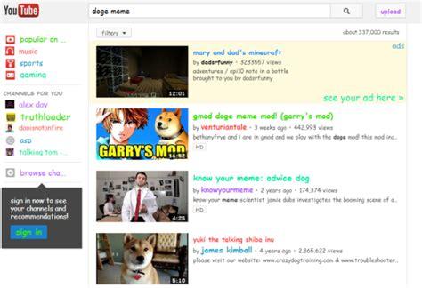 youtube easter egg  doge meme