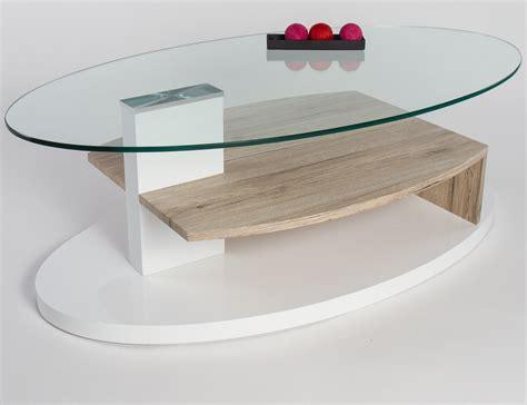 Table Basse Bois Et Verre Design
