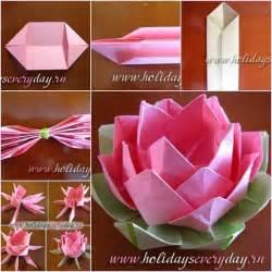 How To Make A Paper Lotus Una Flor De Loto En Origami Decoraci 243 N De Interiores
