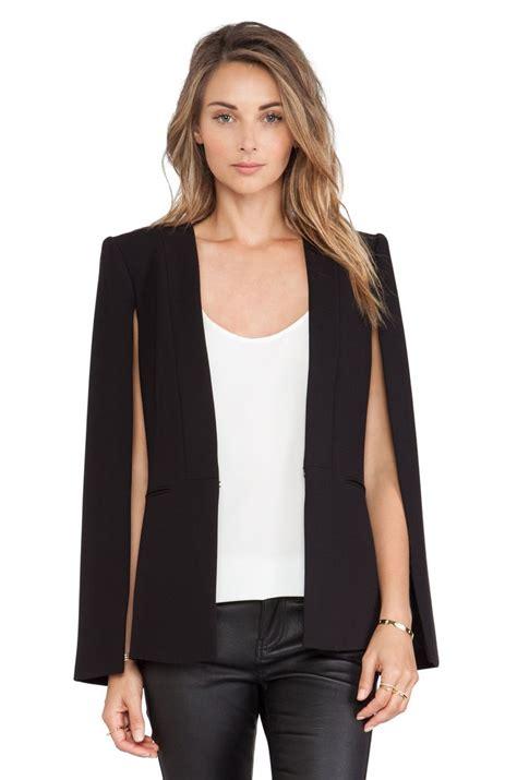 19664 Black Cape Blazer Coat 25 best ideas about cape jacket on black cape