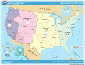 map of time zones in united states map of time zones of the united states the united states