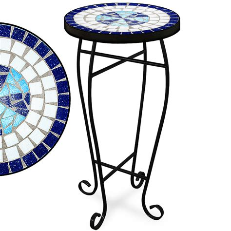 Mosaic Patio Side Table by Mosaic Garden Bistro Table Marble Outdoor Tables Bistro