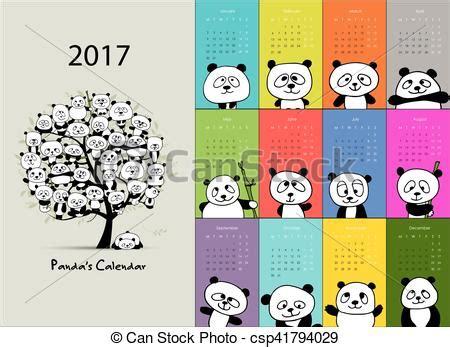 funny bees calendar 2017 design stock vector image 81720022 panda calendar 2017 design vector illustration vector