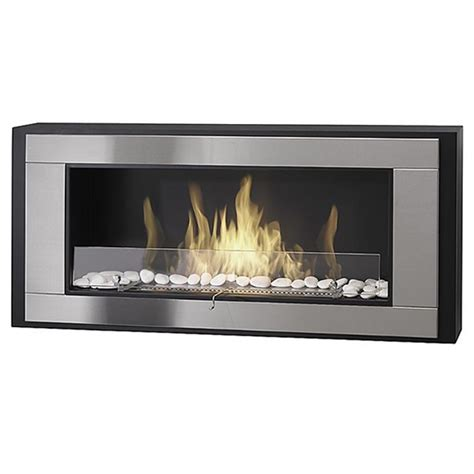 eco feu monte carlo wall mount liquid fuel fireplace
