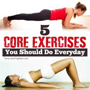 5 core exercises everyone should do tone and tighten