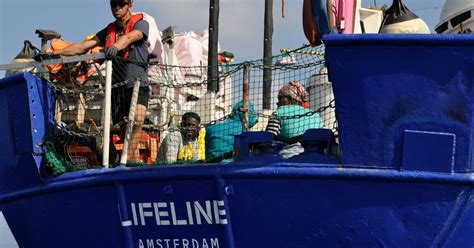 lifeline boat lifeline boat carrying over 200 migrants stranded as