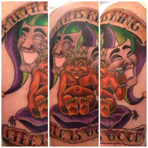 traverse city tattoo mirth is king done by ram traverse city my