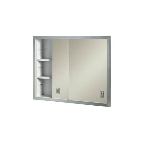 Recessed Bathroom Storage Cabinet Contempora 24 5 8 In W X 19 3 16 In H X 4 In D Framed Stainless Bi View Recessed Bathroom