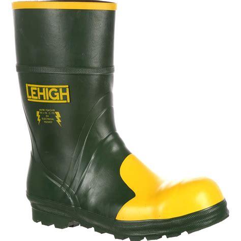 steel toe rubber work boots lehigh steel toe rubber hydroshock dielectric waterproof