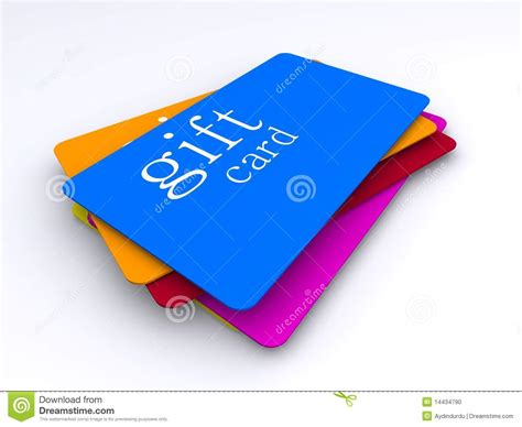 Picture Of Gift Cards - stack of gift cards stock photo image 14434790