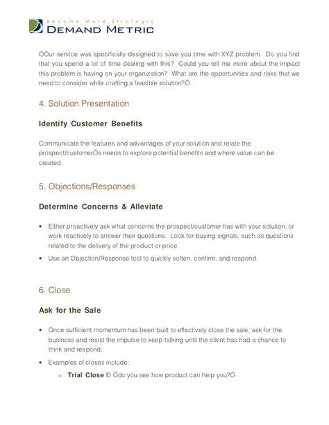 Sales Script Template Sales Script Template