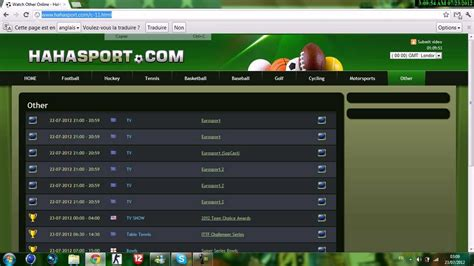 site pour regarder le sport en live youtube