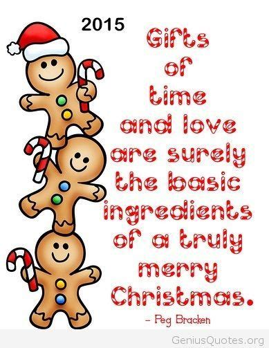 cute merry christmas quote  card