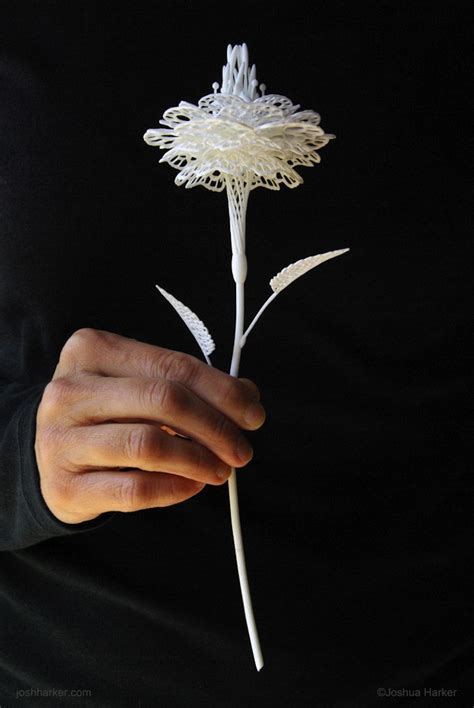 freehand filigree drawing by joshua filigree floral sculpture produced with innovative 3d printing