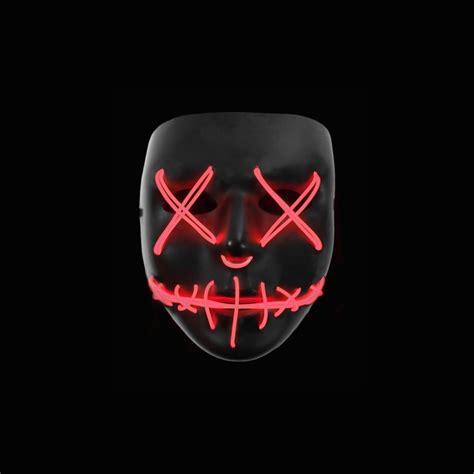 light up 2017 light up purge mask quot stitched quot led 2017
