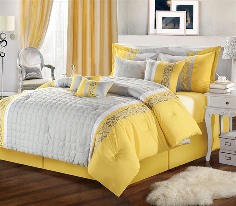 Yellow Grey Bedding Sets Blue Yellow And Grey Comforter Sets Memes