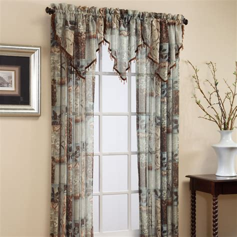 valance with sheer curtains jessica sheer curtains ascot valance croscill chapel