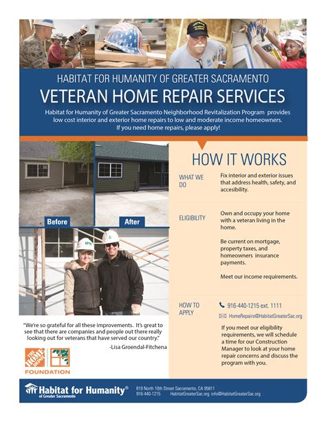 veteran home repair services sacramento and yolo county