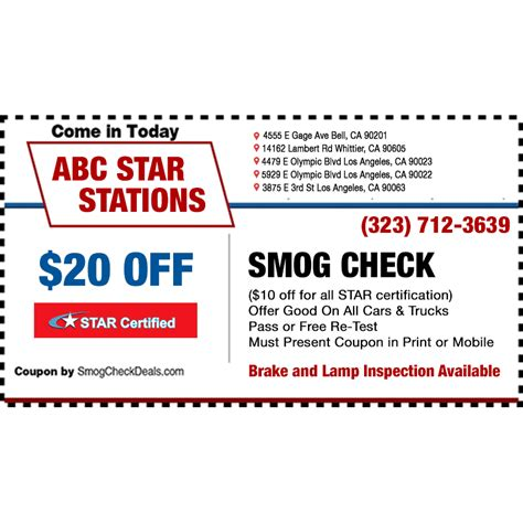 california state licensed brake light inspection stations abc smog check star station in bell ca 90201 citysearch
