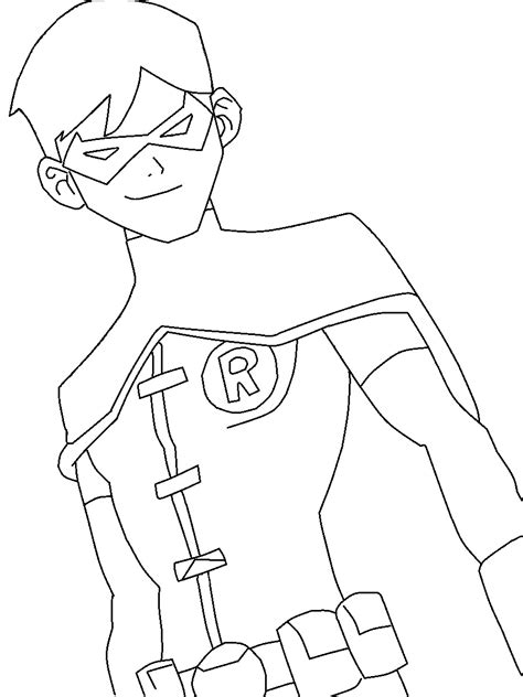 coloring page robin batman and robin coloring pages to and print for free