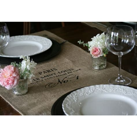 tablecloths table topper burlap 30 x 76 available