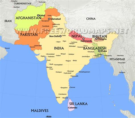 south asia countries map south asia maps