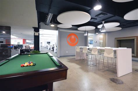 interactive pool table price a look inside cbs interactive s new york city office