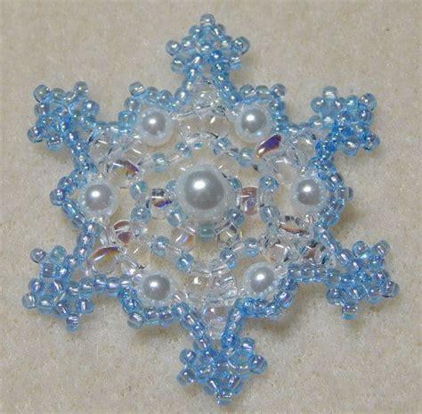 Dekorationen Selber Machen 3172 by Snowflake 2 Beaded Ornament Pattern Weihnachtsbasteln