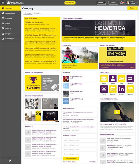 intranet portal design templates intranet portal design templates images free templates ideas