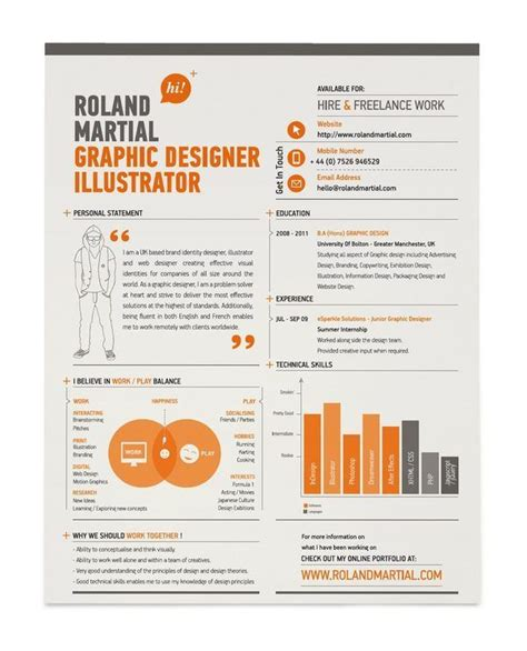 28 amazing exles of cool and creative resumes cv